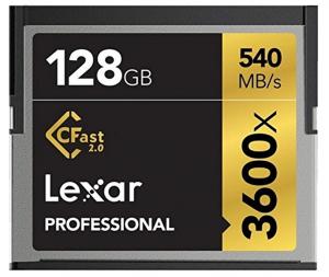 128GB Lexar Professional 3600x CFast 2.0