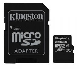 Kingston 256GB Micro SDXC Card 45Mb:s