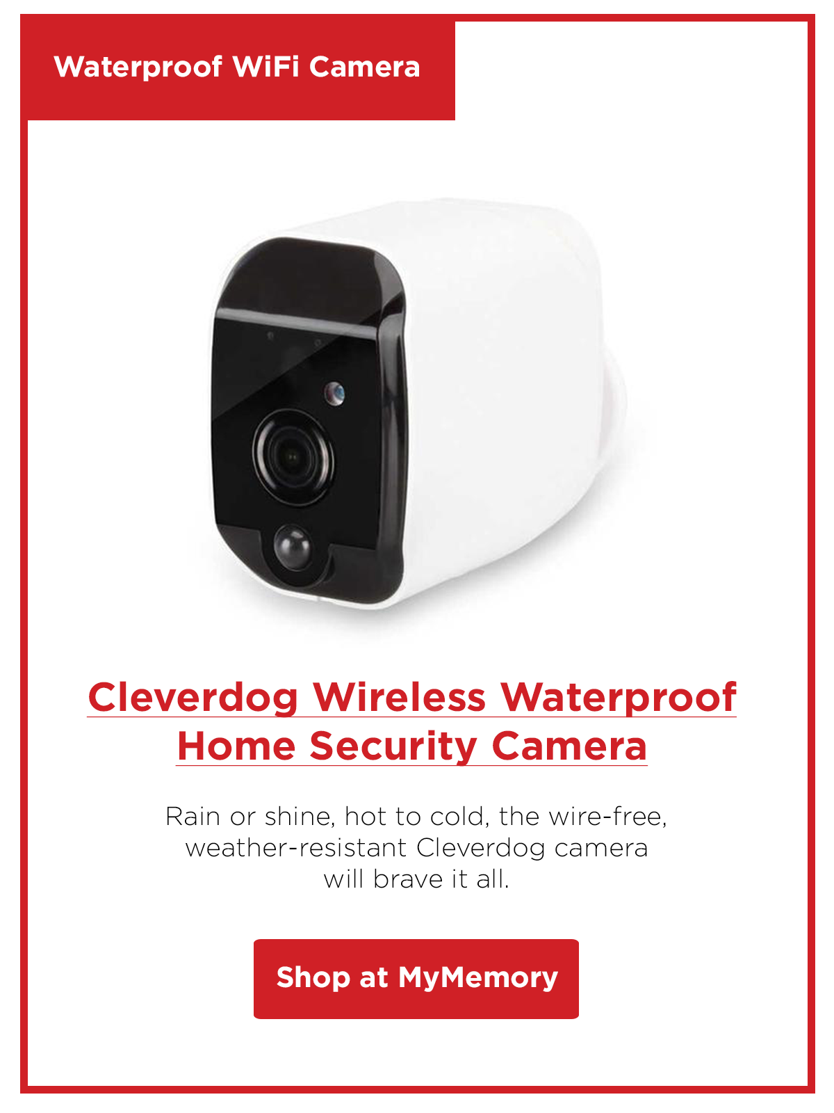 Cleverdog Wireless Waterproof Battery Powered Wifi Home Security Camera
