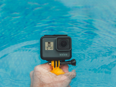 Person holding GoPro Hero in water | Photo: Jacob Owens