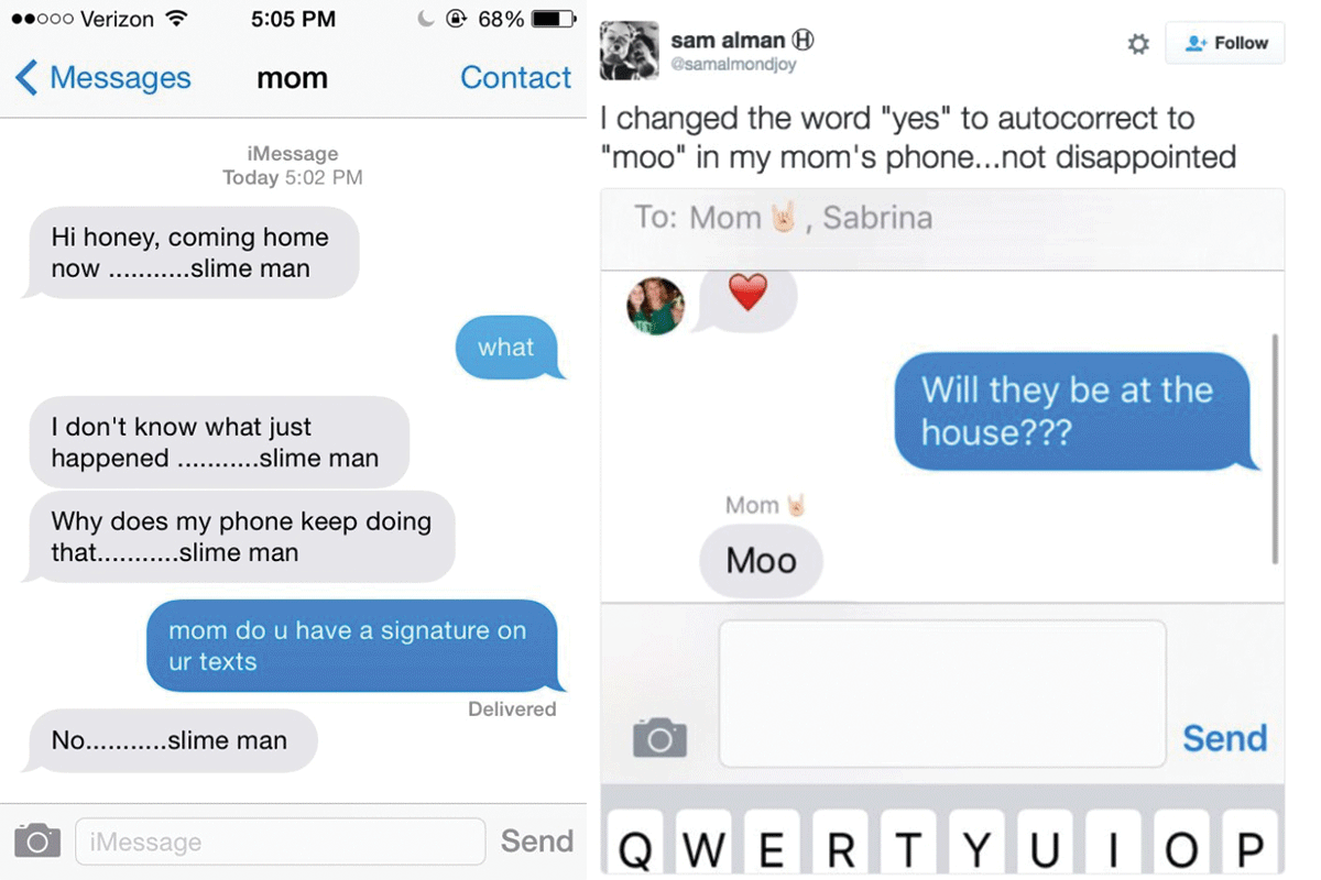 Text replacement pranks | Photo: Justsomething