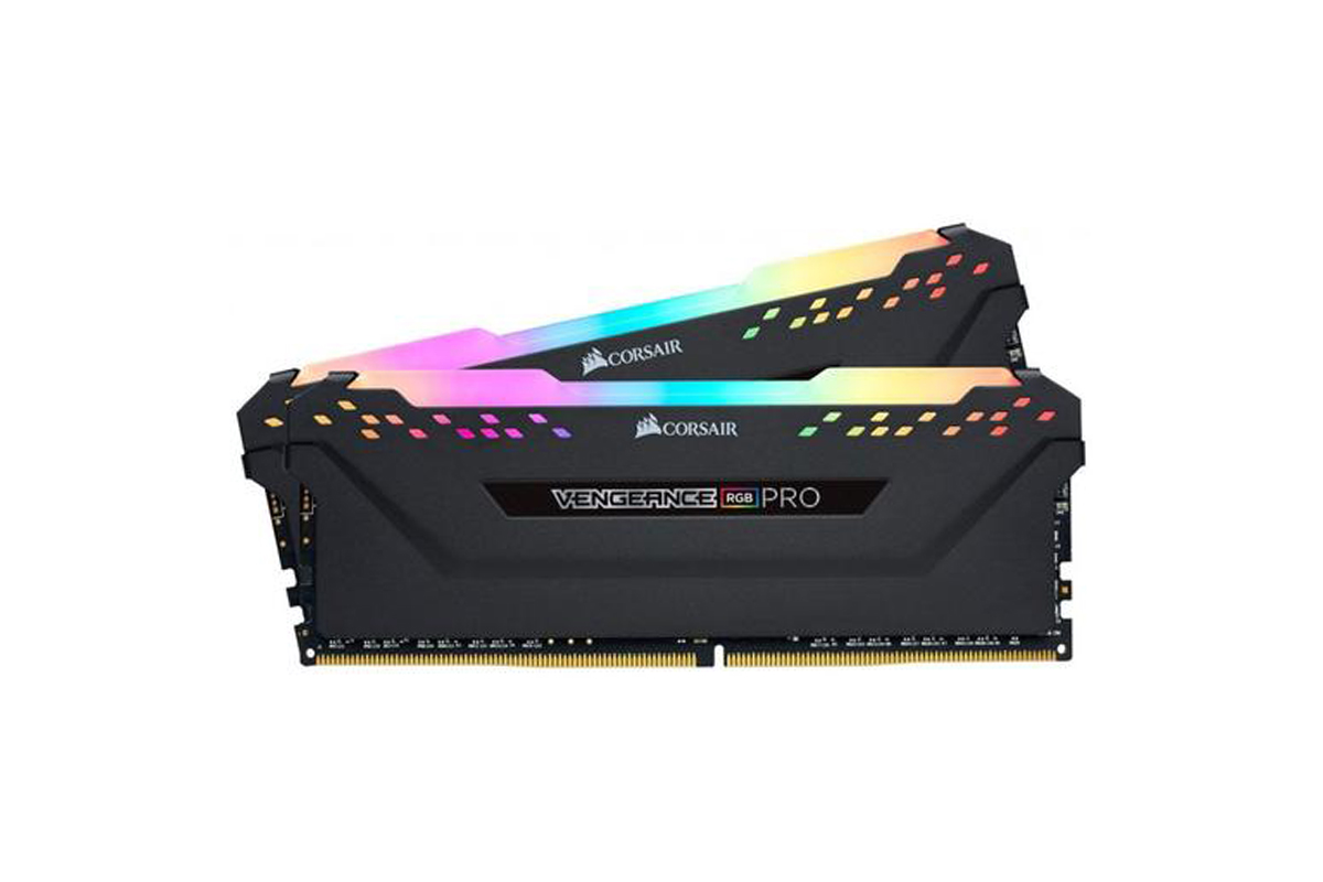 Corsair Vengeance RGB PRO 16GB (2 x 8GB) DDR4 DRAM 3200MHz C16 Memory Kit — Black