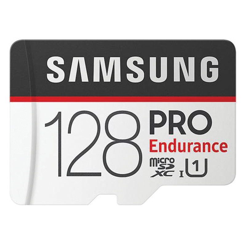 Samsung 128GB PRO Endurance Micro SD Card (SDXC) + SD Adapter - 100MB/s