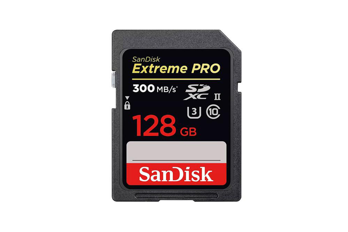 SanDisk 128GB Extreme PRO SD Card (SDXC) UHS-II U3 - 300MB/s