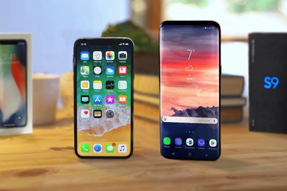 iPhone X & Samsung Galaxy S9 - Selfie Camera