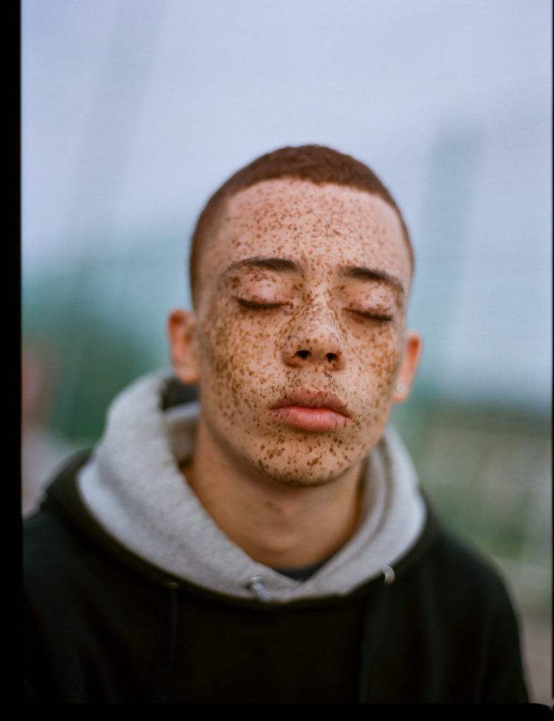 Rosie Matheson - 'Elliot' was shot using a Mamiya RZ67 camera on Kodak Portra 400 film. The image was selected for Portrait of Britain Award 2016.