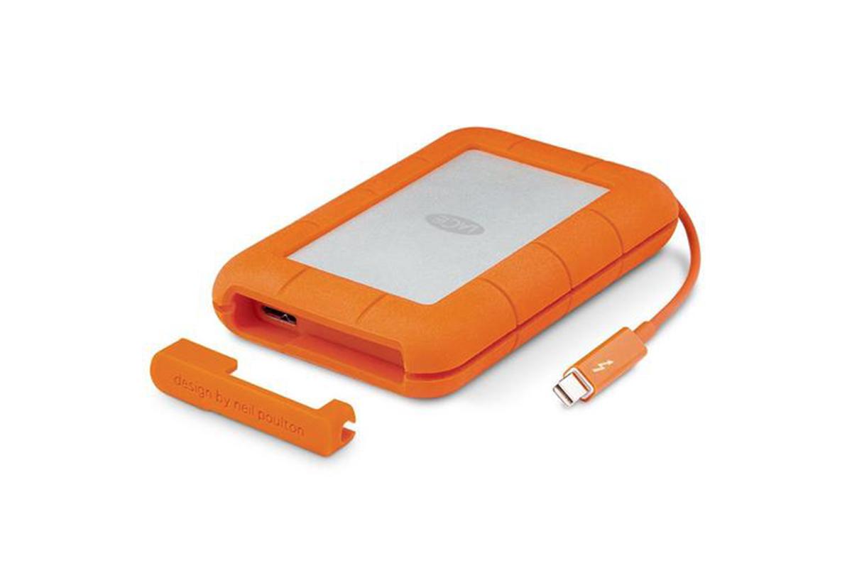 Lacie 2TB HDD Rugged External Hard Drive USB-C/3.0 - 130MB/s