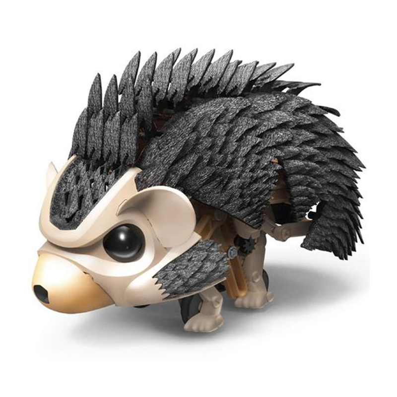 Robotic Hedgehog Construct and Create AI Interactive Sound Detecting Robot
