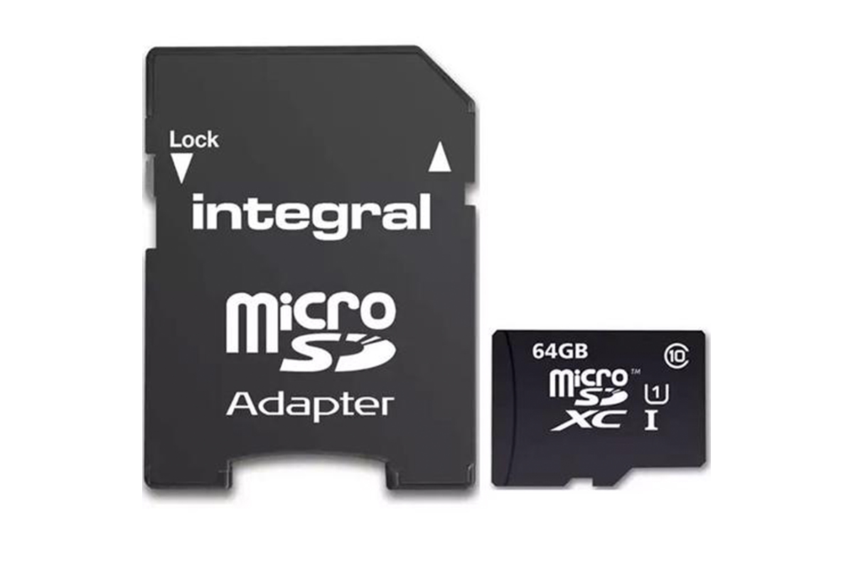 Integral 64GB Ultima PRO Micro SD Card (SDXC) UHS-I U1 + Adapter - 40MB/s