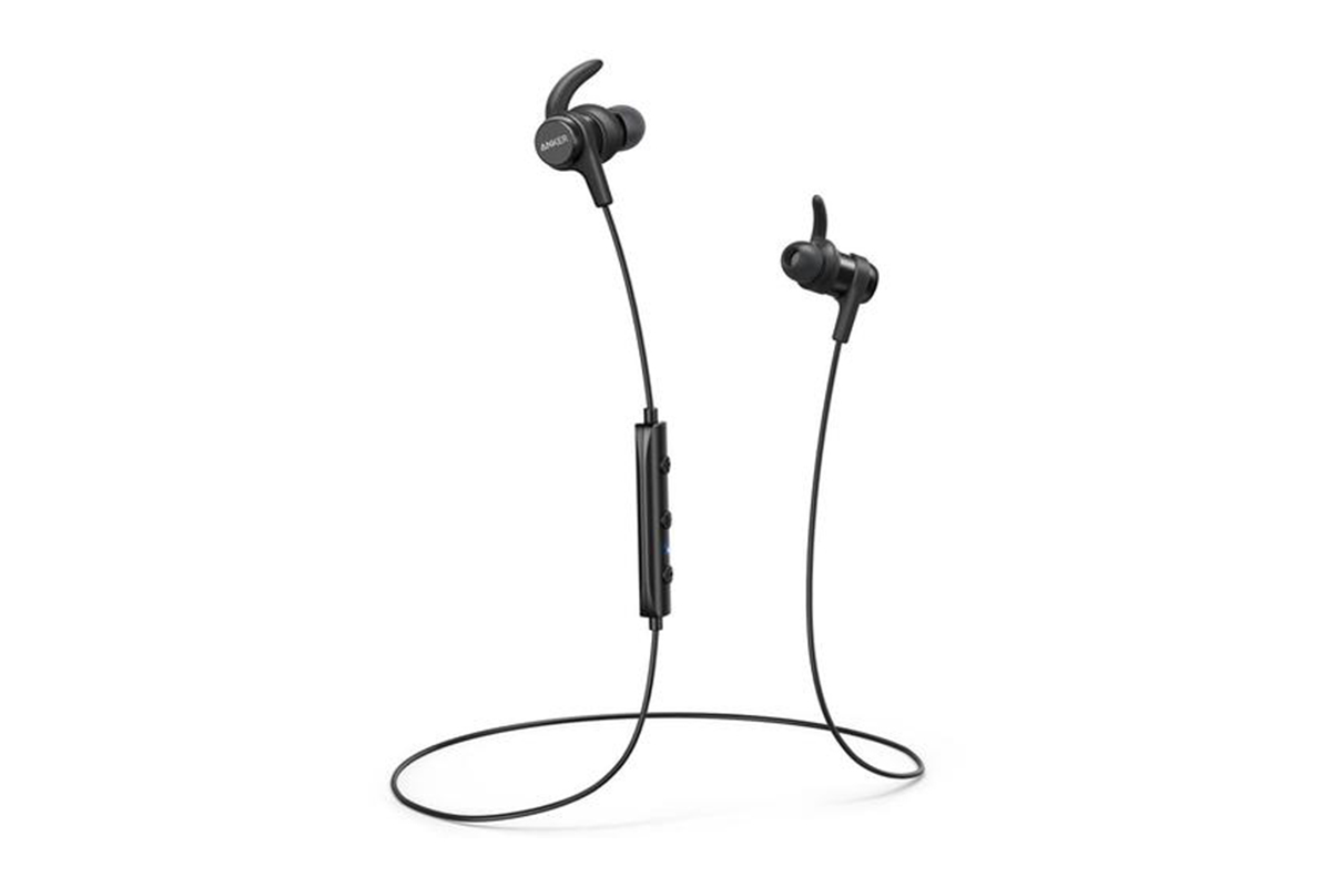 Anker SoundBuds Flow Wireless Bluetooth Headphones with Mic - Black