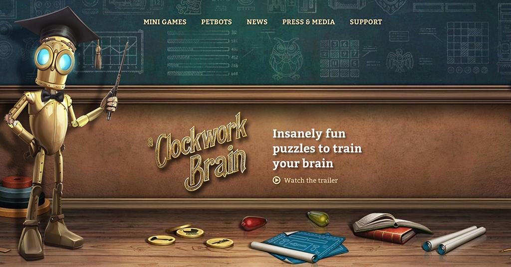 Clockwork Brain homepage | Photo: Clockwork Brain