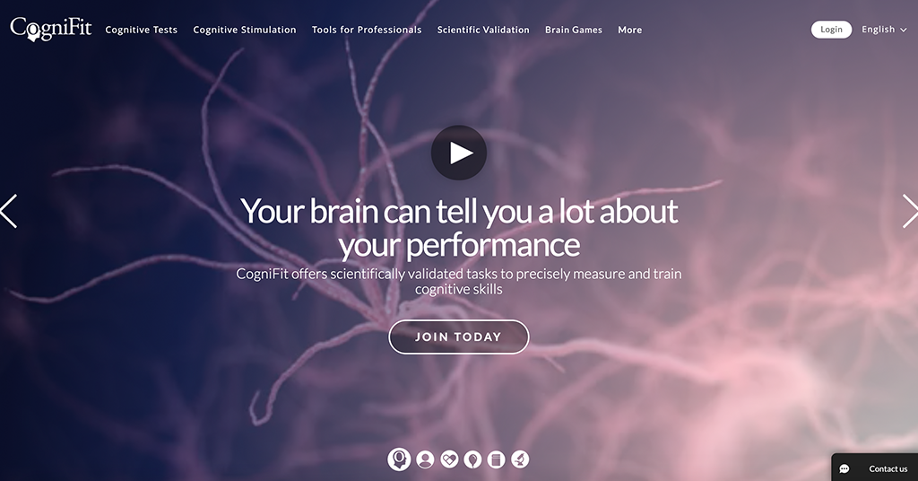 CogniFit Brain Fitness homepage | Photo: CogniFit