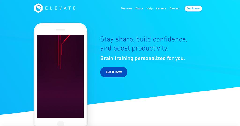 Elevate homepage | Photo: Elevate