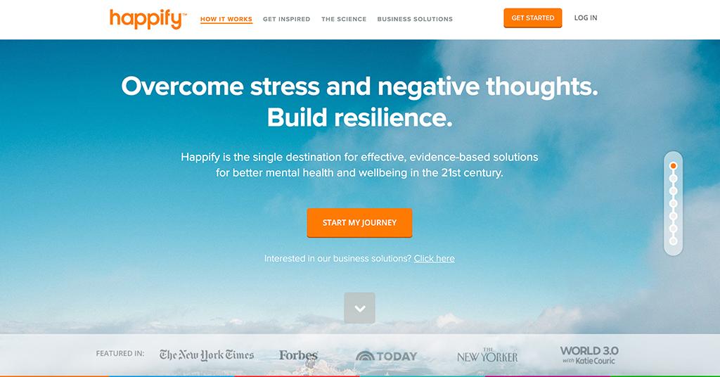 Happify homepage | Photo: Happify