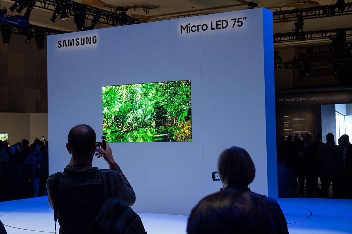 Samsung 75-inch Micro LED TV - Photo: Rich Shibley/Digital Trends