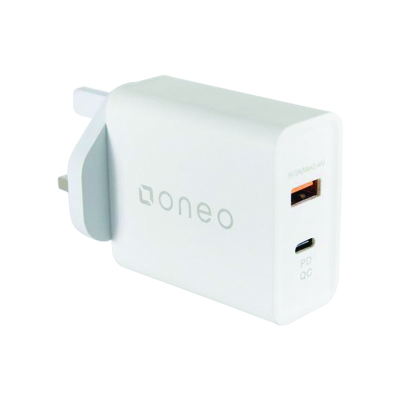 oneo 3A Quick Charge 3.0 Wall Charger - White