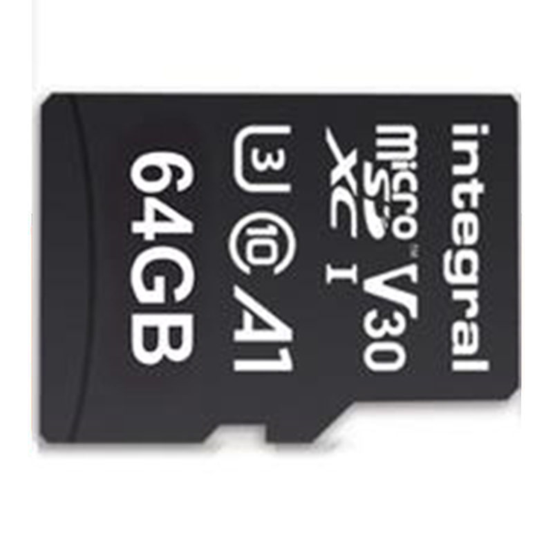 Integral 64GB UltimaPRO V30 Premium Micro SD Card (SDXC) UHS-I U3 + Adapter - 100MB/s