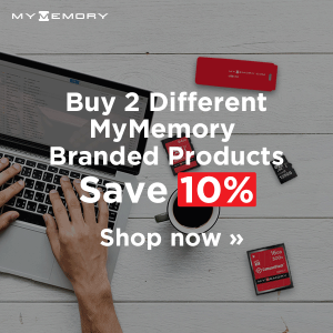 Buy 2 different MyMemory items and save 10%