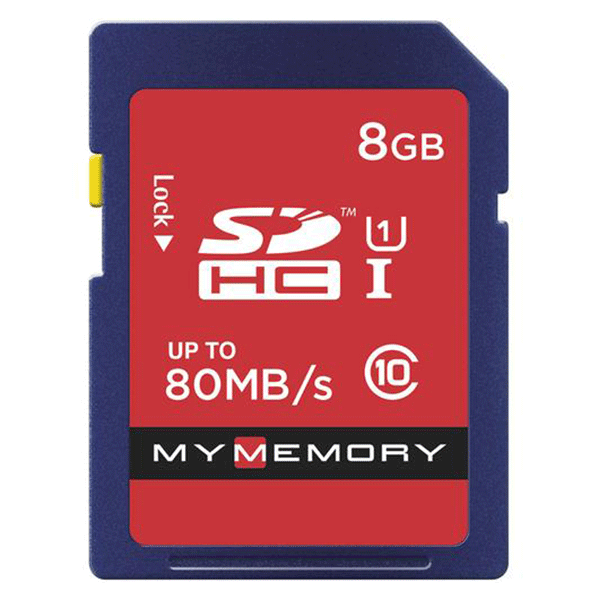 MyMemory 8GB SD Card (SDHC) - 80MB/s