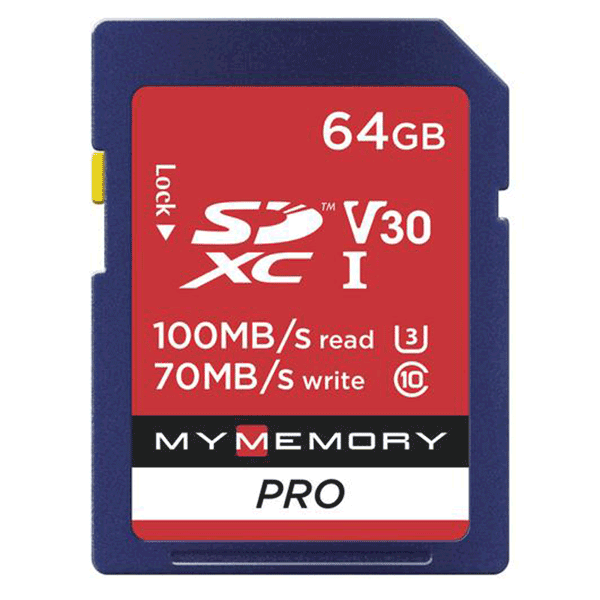 MyMemory 64GB V30 PRO High Speed SD Card (SDXC) UHS-1 U3 - 100MB/s