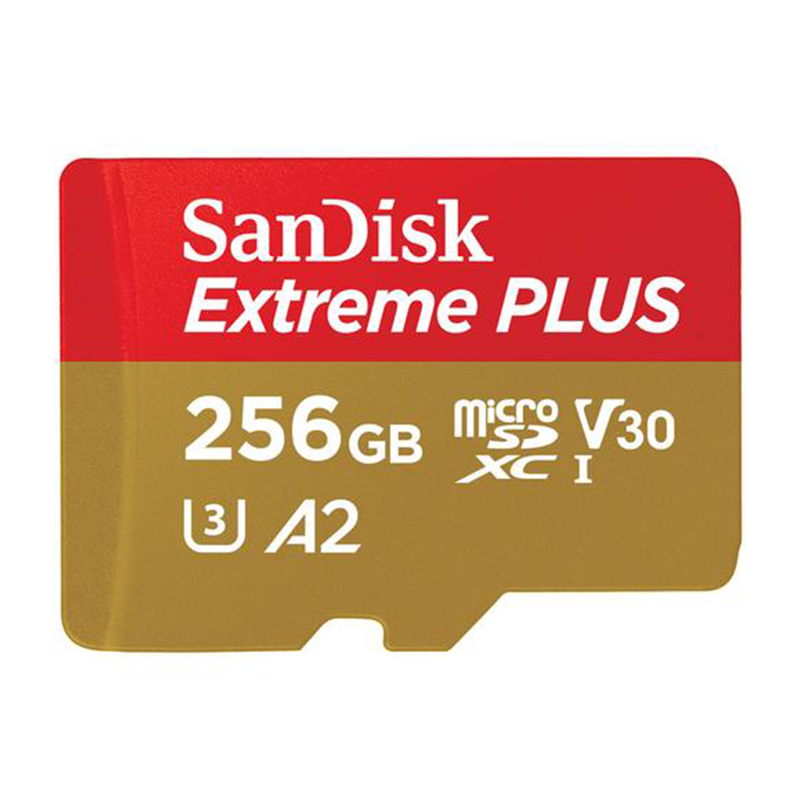 SanDisk 256GB Extreme V30 Micro SD Card (SDXC) UHS-I U3 - 160MB/s
