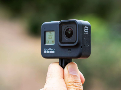 GoPro Hero 8 Black in hand | Photo: The Verge
