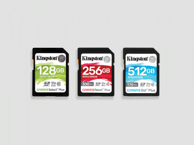 Kingston Showcase Canvas Plus SD Card Lineup