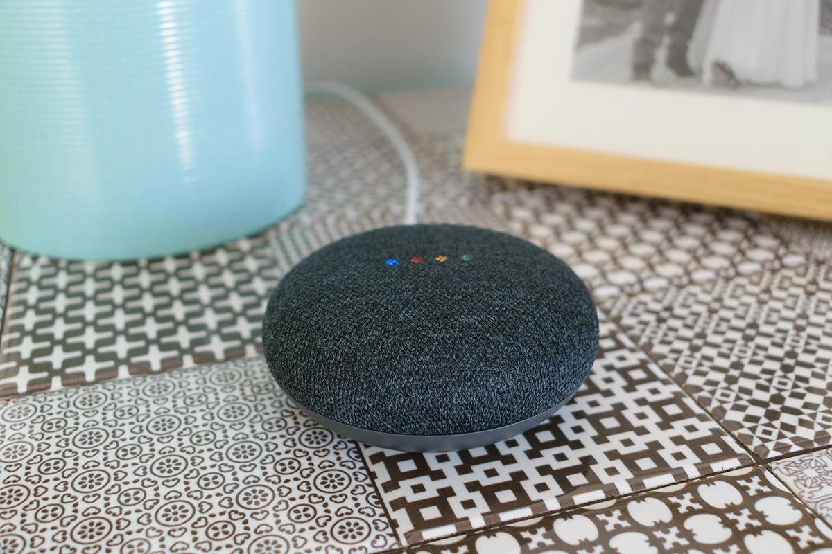 Google home mini smart speaker with built in Google Assistant | Photo: Shutterstock