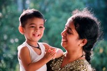 HAPPY MOMENT WITH MOTHER