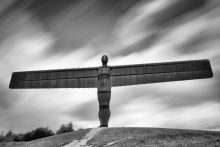 Angel of the North frozen in time