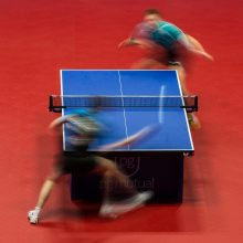Table Tennis Slow Motion action