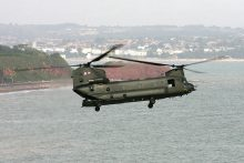 Chinook over Dawlish