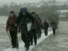 Braving the elements - Harvington Ramblers