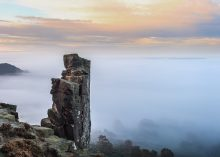 Pinnacle Rock above morning mist