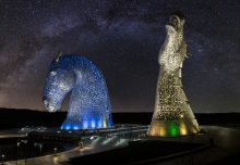 Kelpies under the stars