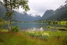 Lake Near Olden, Norway