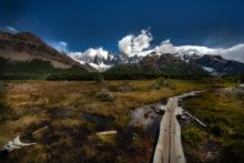 The route to Laguna de los tres, Patagonia