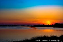Seahan Dam Sunset in Ireland